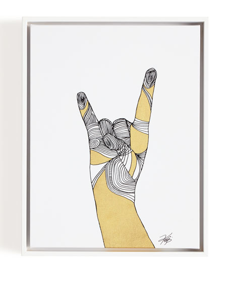 """""""Sign Language IV"""" Giclee on Canvas Wall Art"""