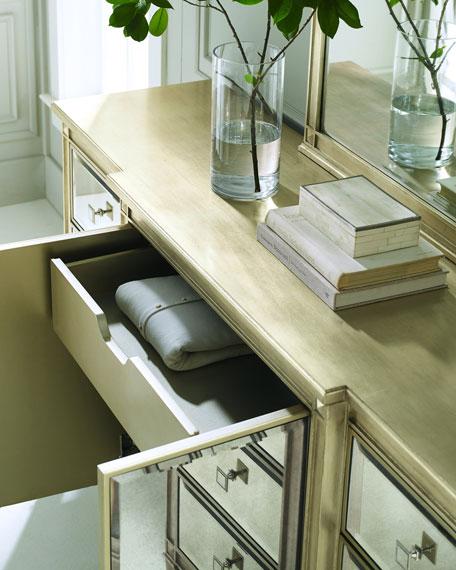 Emilee Antiqued Mirrored Dresser