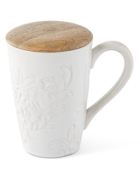Ceramic Mug with Lid, Set of 4