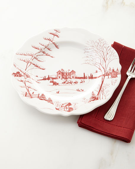 Country Estate Winter Frolic Dinner Plate