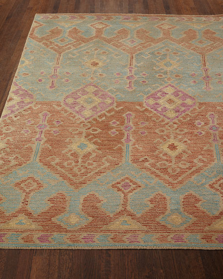"Gem Hand-Tufted Rug, Spice Teal, 3'6"" x 5'6"""