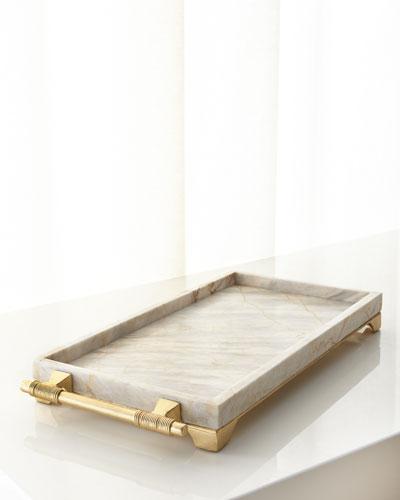 Century Marble Rectangular Tray