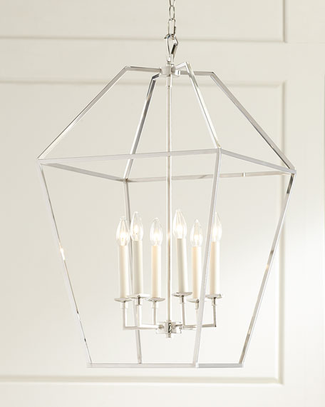 6-Light Cage Chandelier