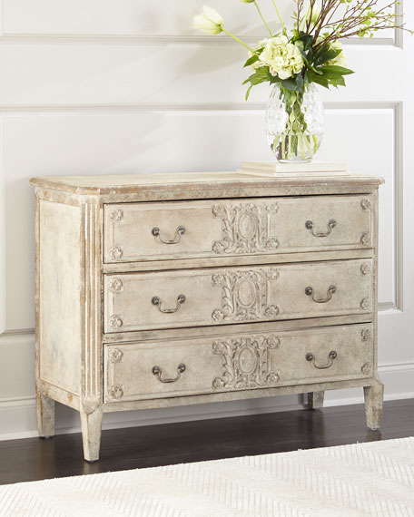 Ember Carved Floral Chest