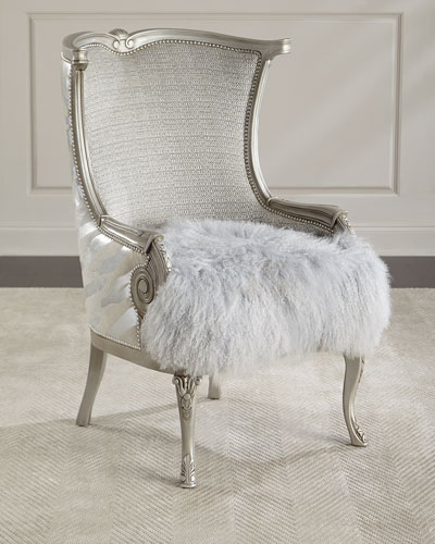 Cassius Hairhide U0026 Shearling Wing Chair