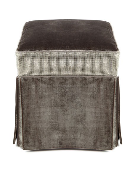 Glam Pouf in Steel, 20""