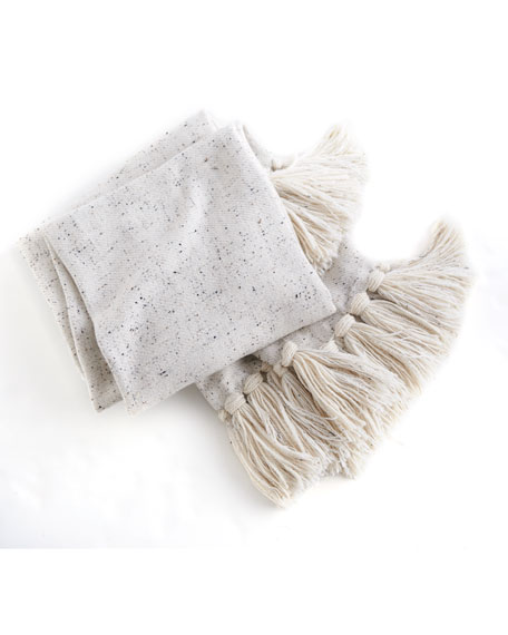 Tasseled Baby Alpaca Throw Blanket