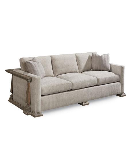 Perla Exposed Wood Frame Sofa