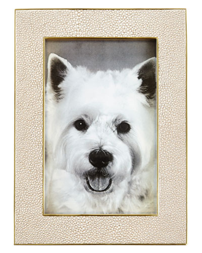 Classic Faux-Shagreen 4 x 6 Picture Frame  Wheat
