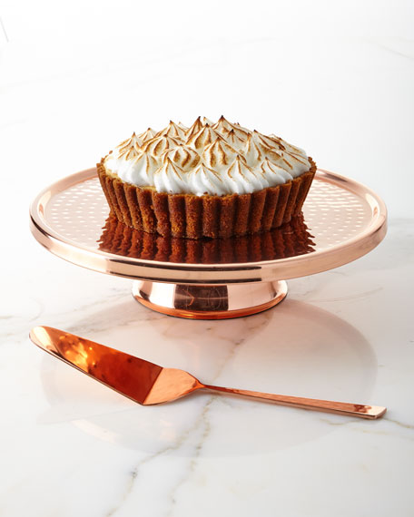 Godinger Copper Cake Plate with Server
