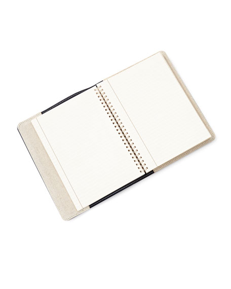 "Leather 9"" Notebook, Personalized"