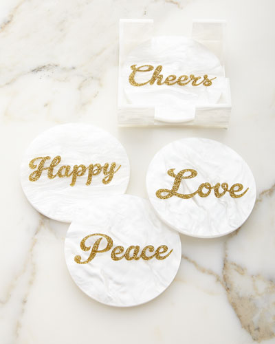 Round Elle Décor Coasters, Set of 4