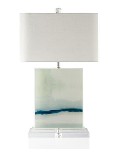 Enigma Printed Canvas Table Lamp