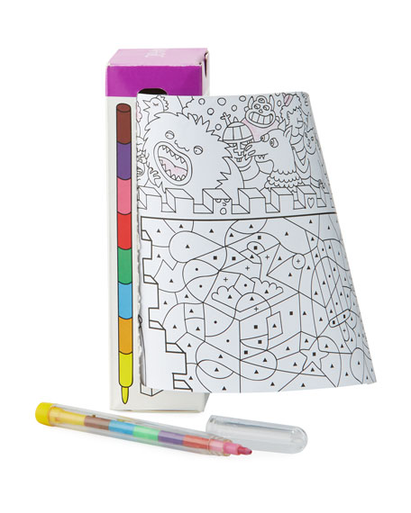 Travel Pocket Coloring Book