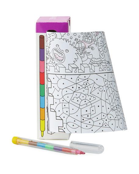 Travel Pocket Coloring Book