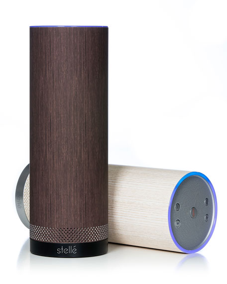 Audio Pillar Speaker with Amazon Alexa, Wenge