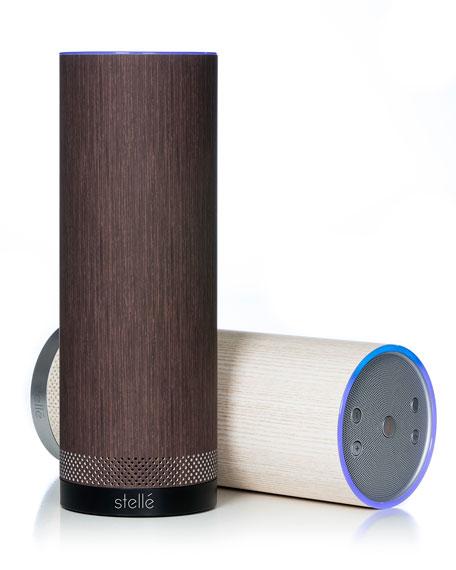 Audio Pillar Speaker with Amazon Alexa, Wenge