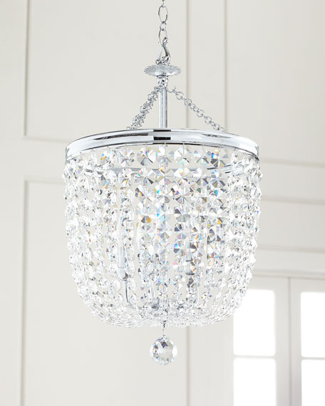 Archer 5-Light Crystal Polished Chrome Chandelier
