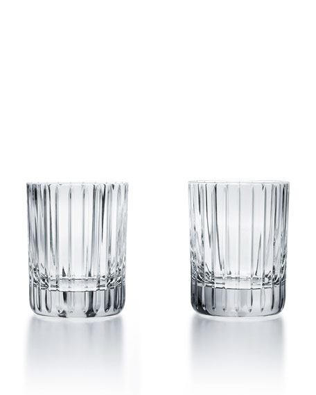 Baccarat Harmonie Crystal Triple Old Fashion Tumblers, Set
