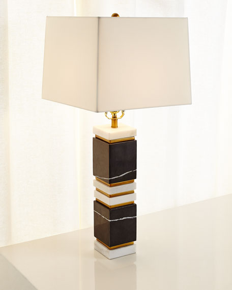 Dustin Marble/Brass Table Lamp