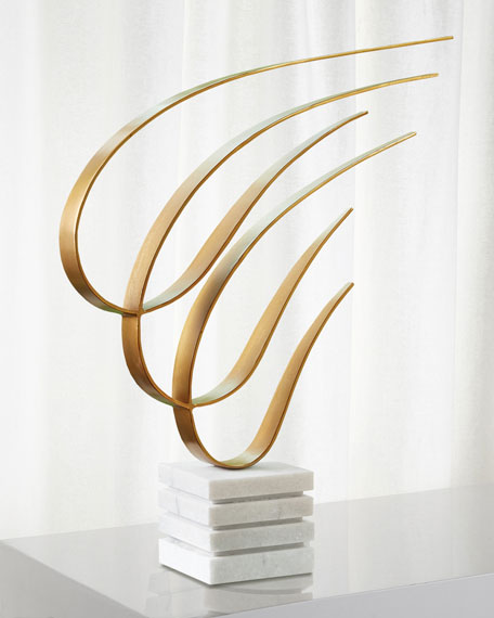 Global Views Swoosh Sculpture