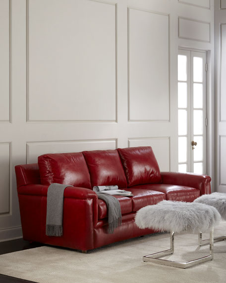 Ruby Leather Sofa