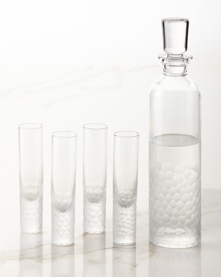 Arctic Vodka Decanter and Four Shot Glasses