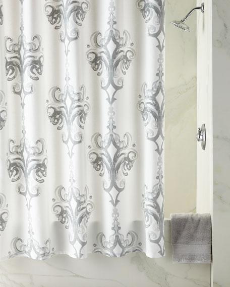 Rifiki Damask Shower Curtain