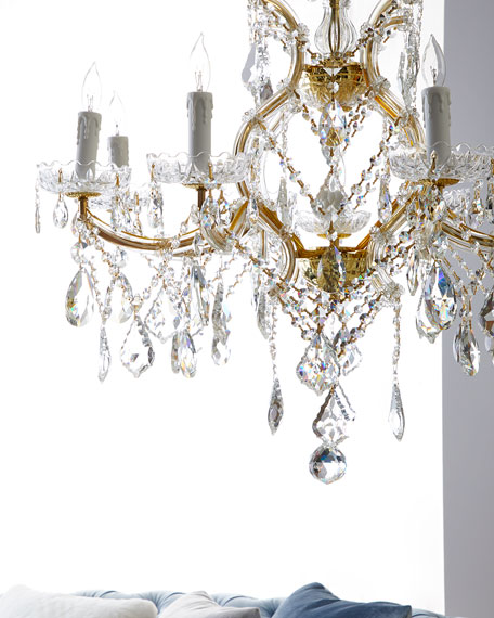 Maria Theresa 9-Light Clear Crystal Chandelier