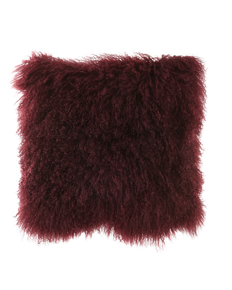 Massoud Tibetan Lamb Pillow, Cabernet