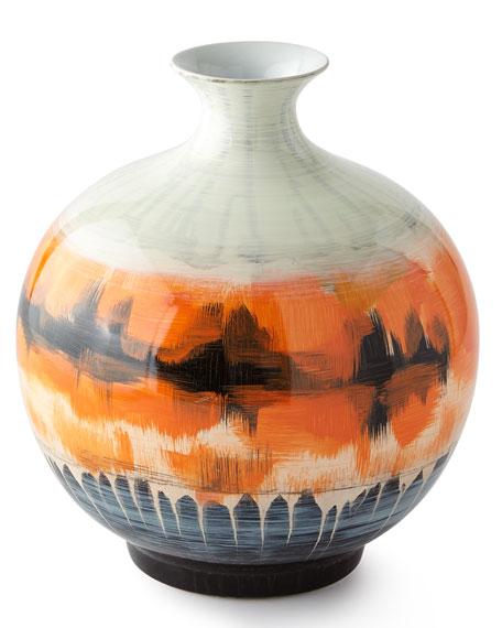 Suma Small Vase, Orange
