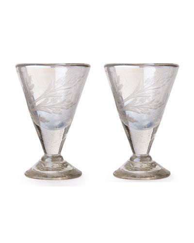 Lustre d'Pasion Cordial Glasses Pair  Clear
