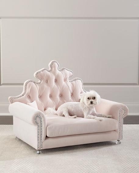 Isabella Dog Bed, Blush
