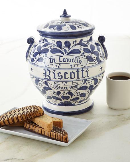 Arabesco Biscotti Jar