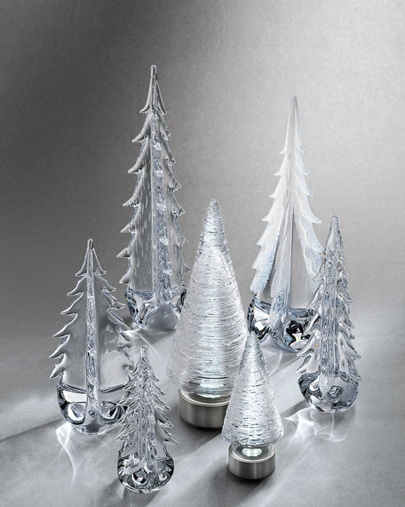 Five-Sided Evergreen Glass Tree - 14""
