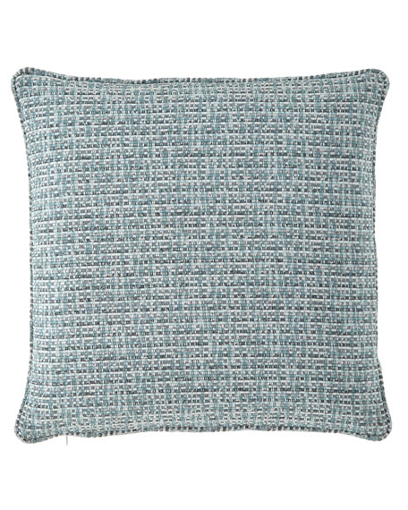 "Basketweave Pillow, 18""Sq."