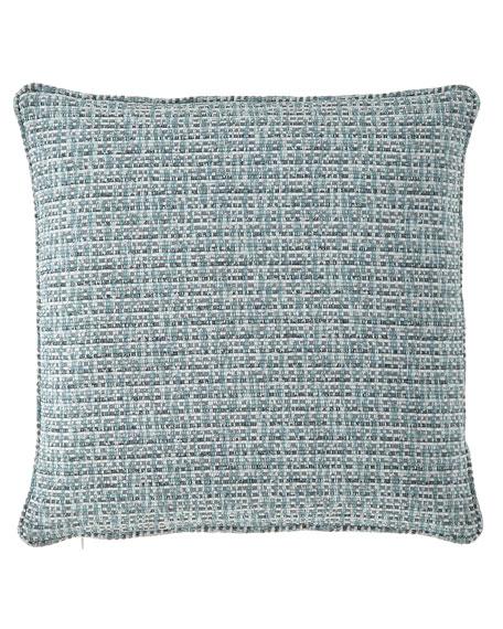 "Basketweave Pillow, 18""Sq."