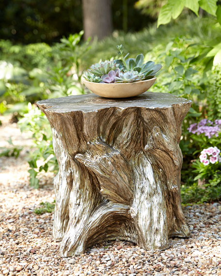 Phenomenal Faux Bois Garden Stool Caraccident5 Cool Chair Designs And Ideas Caraccident5Info