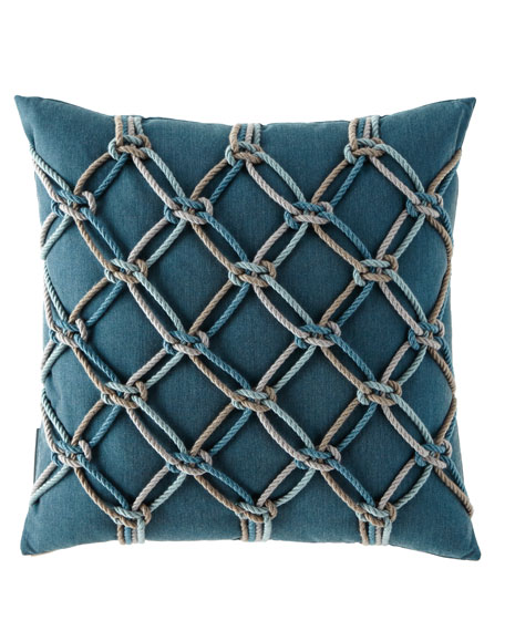 "Lagoon Rope Pillow, 20""Sq."
