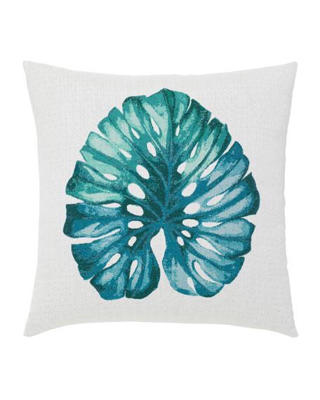 """Leaf Lagoon Pillow, 22""""Sq."""