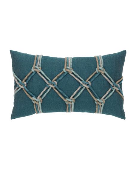 """Lagoon Rope Lumbar Pillow, 12"""" x 20"""""""