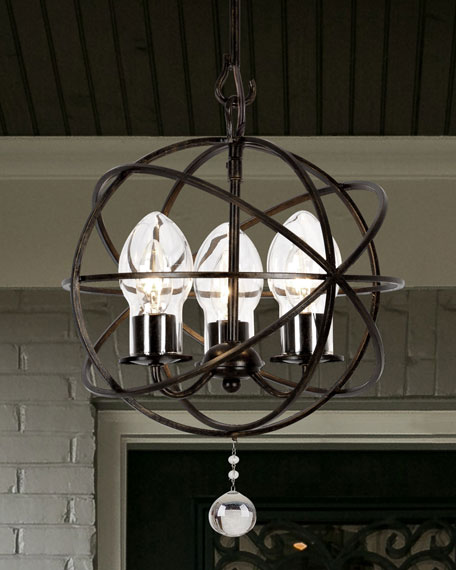 Crystorama Solaris 3-Light Mini Chandelier
