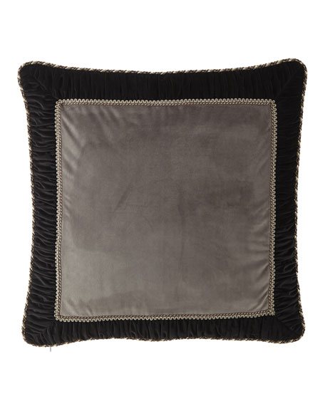 Austin Horn Collection Rockwell Framed Velvet European Sham
