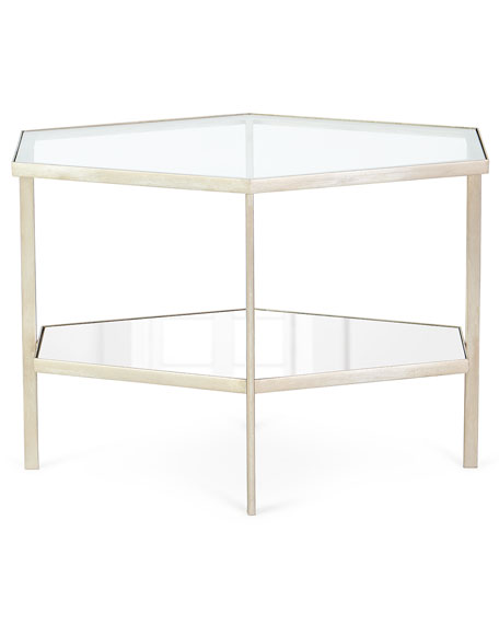 "Valeria Hexagon Side Table, 18""T"