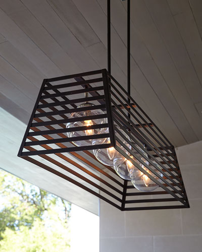 Lakewood 4-Light Indoor/Outdoor Linear Pendant