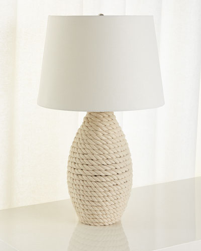 Rope Table Lamp  Cream