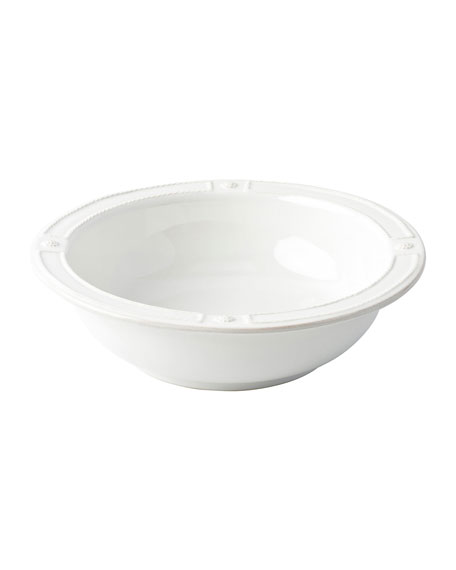 Berry Thread French Panel Whitewash Serving Bowl, 11.5""