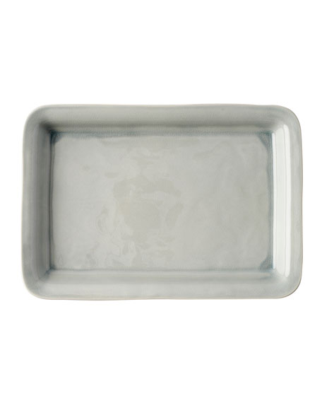 "Puro Mist Grey Crackle 16"" Tray"