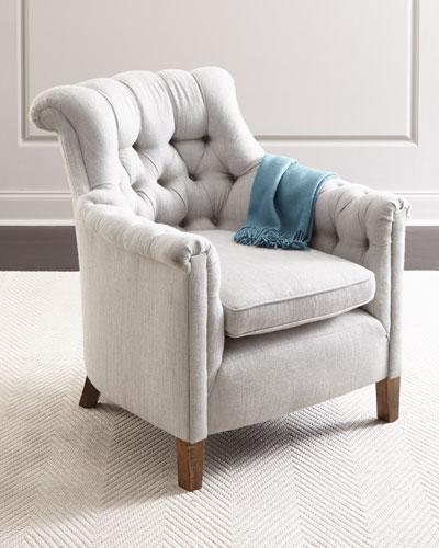 Alfreda Alpaca Tufted Chair