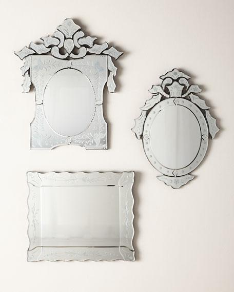 Mini Ornate Oval Venetian Mirror